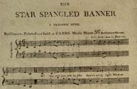 Abbildung zeigt eine Kopie der ersten gedruckten Edition, die Wort und Musik kombinierte – eine von 10 Kopien, die existieren; photo: LoC